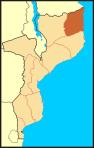 Províncias de Moçambique - Cabo Delgado ao Norte, em destaque
