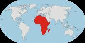 África situada no planeta Terra