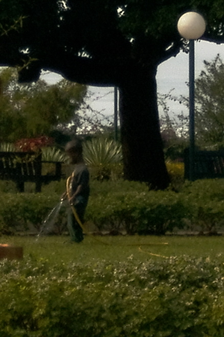 roubo de anao de jardim : roubo de anao de jardim:No Jardim dos Namorados, em Maputo (Moçambique), anão em atividade.