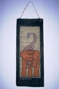 batique girafa com elefante