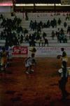 ataque do Brasil durante jogo basquete Brasil e Portugal 31 de julho