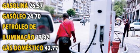 foto com preços de combustíveis