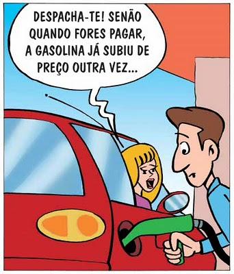 charge sobre aumento da gasolina