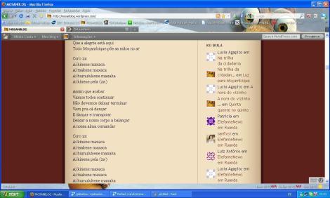 print screen da tela do Mosanblog