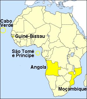 países lusófonos na África