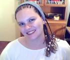 Sandra Flosi com tranças nagô