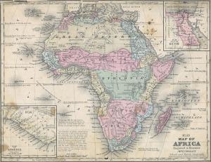 Mapa da divisão da África pré colonial