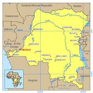 mapa Congo Kinshasa