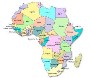 Mapa atual da África