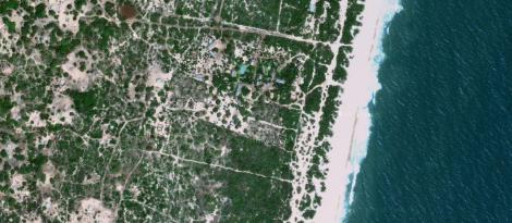 imagem de satélite da praia de Macaneta