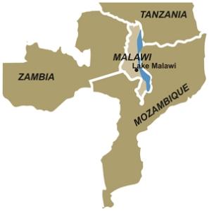 Malawi dentro de Moçambique