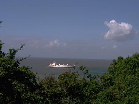 Navio no Índico agosto de 2010