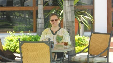 Sandra no Hotel Cardoso