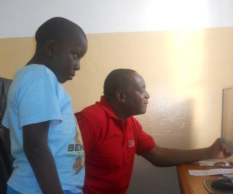 Wazimbo e Michel na Academia de Comunicação