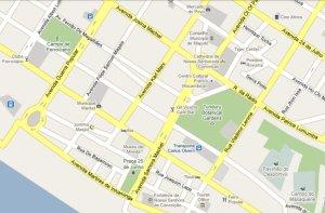 mapa Maputo centro baixa
