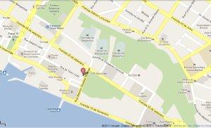 localização do Escorpião no mapa de Maputo