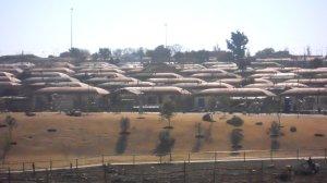 Soweto visto da estrada