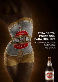 Publicidade Laurentina preta