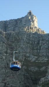 O teleférico da Table Mountain