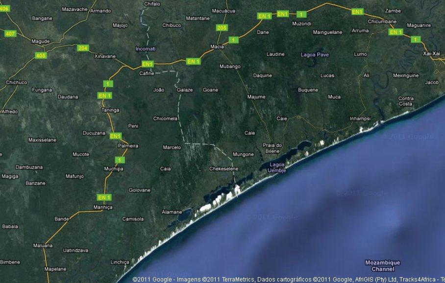 mapa de moçambique via satelite praias de Moçambique | MOSANBLOG mapa de moçambique via satelite